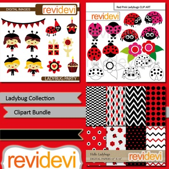 Ladybug clipart: Ladybug collection clip art bundle (3 packs)