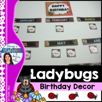 Ladybugs Classroom Decor Theme - Birthday Decor
