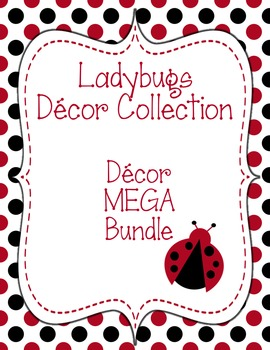 Ladybugs Decor: Decor MEGA Bundle