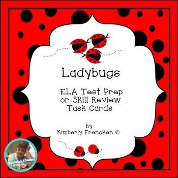 Ladybugs: ELA & Non-Fiction Reading Task Cards and Printables