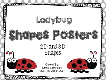 Ladybugs Shapes Posters