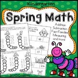 Kindergarten Spring Math * Addition * Subtraction * Fact F