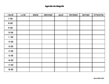 L'agenda de Magalie