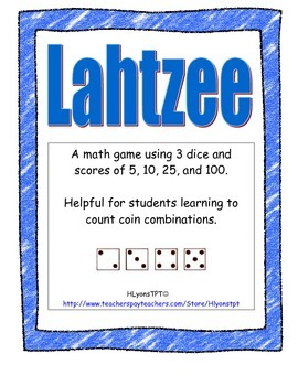 Lahtzee Yahtzee Math Dice Game
