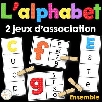 French alphabet - 2 jeux d'association - Ensemble
