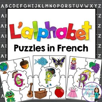 L'alphabet:  French Alphabet Puzzles