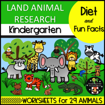 Land Animal Research: Diet and Fun Facts Kindergarten
