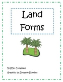 Land Forms: Picture Match & Student Booklet