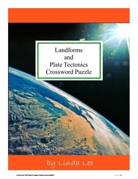 Landforms and Plate Tectonics Vocabulary Crossword Puzzle