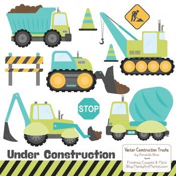 Land & Sea Construction Clipart & Vectors