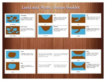 Land and Water Forms booklet