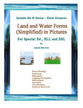 Land and Water Forms (Simplified) in Pictures for Special