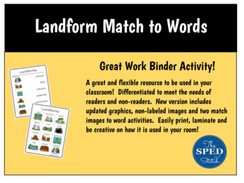 Land form Match to Word