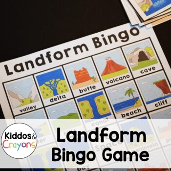 Landform Bingo Game