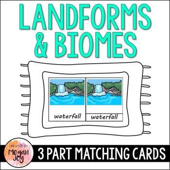 Landform & Biome 3 Part Cards