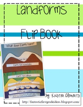 Landform Flip Book Activity