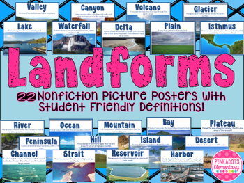 Landform Posters Nonfiction Realistic Pictures w/ student
