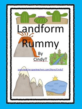 Landform Rummy - activity to practice landforms and definitions