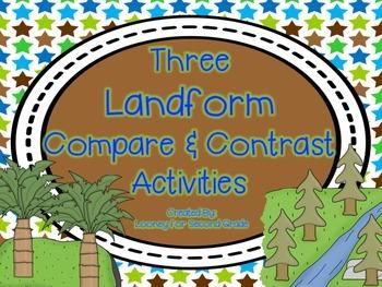 Landform Venn Diagrams (Compare and Contrast)
