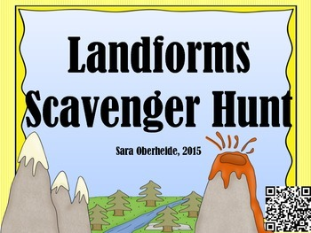 Landforms and Earth's Features Scavenger Hunt