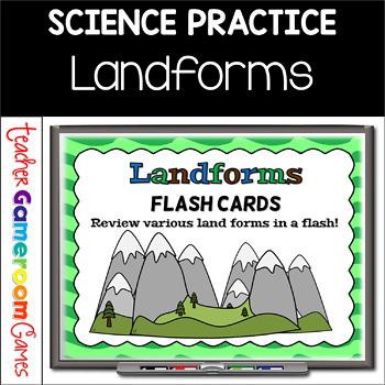 Landforms Powerpoint Flash Card Set