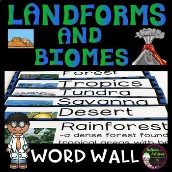 Landforms/Biomes Vocabulary Cards BUNDLE