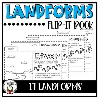 Landforms Flip-It Interactive Notebook