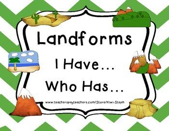 Landforms: I Have... Who Has?