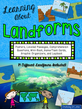 Landforms Lapbook and Close Reading Passages