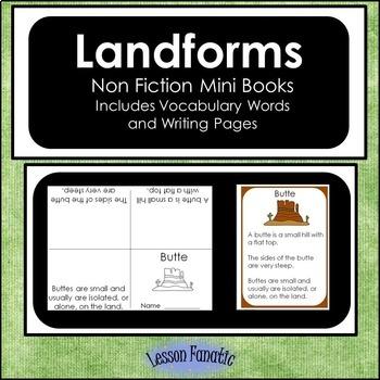 Landforms Non Fiction Mini Books