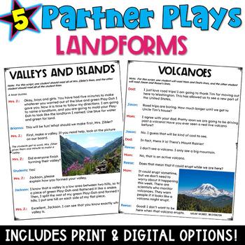 Landforms: Partner Plays (five scripts to improve fluency)