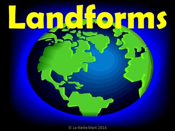 Landforms PowerPoint with Student Booklet
