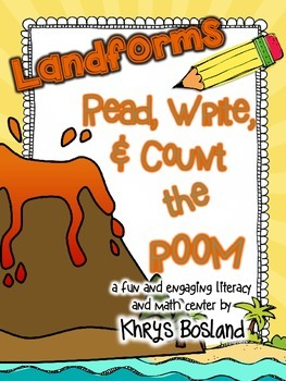 Landforms Read, Write, and Count the Room {Literacy and Ma