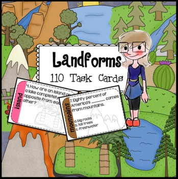SCOOT Landforms Task Cards - 110 task cards for 11 differe