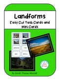 Landforms Task Cards includes Assessment Ideas