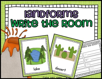 Landforms Write the Room - 20 different landforms
