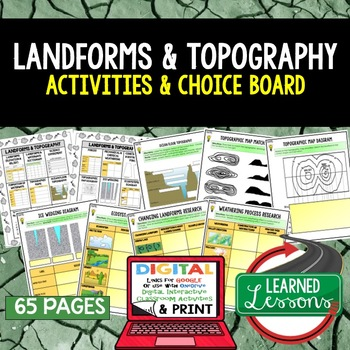 Landforms & Topography Choice Board Activities with Google