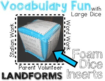 LANDFORMS Vocabulary - Rolling Fun!