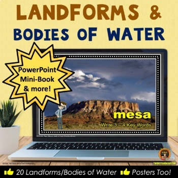 Landforms and Bodies of Water Teaching Resource