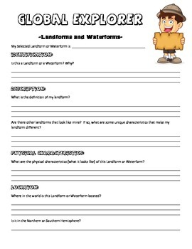 Landforms and Waterforms: Global Explorer Project