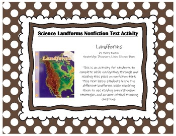 Landforms by Mary Adams Newbridge Discovery Links Science