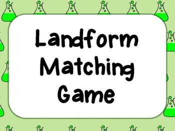Landforms matching game