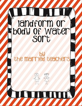 Landforms or Bodies of Water Cut and Paste