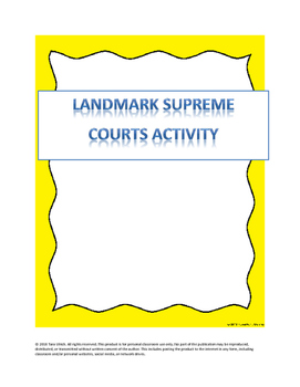 Landmark Courts (US Supreme Court)