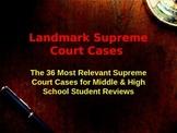 Landmark Supreme Court Case Summaries - 36 Most Significan