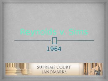 Landmark Supreme Court Cases - Reynolds v. Sims