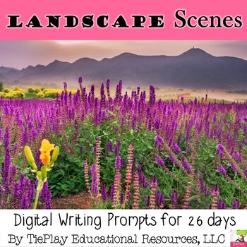 Landscapes and Academic Words Writing Prompts