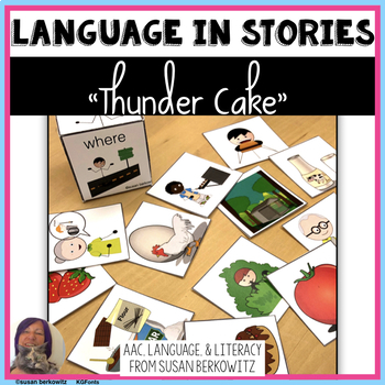 Language Activities Adapted for Thunder Cake