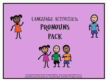 Language Activities: Pronouns Pack