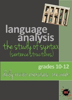 Language Analysis: Syntax Powerpoint Daily Review Exercise